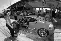 Jaime Melo sits in the Risi Competizione Ferrari F430 GT