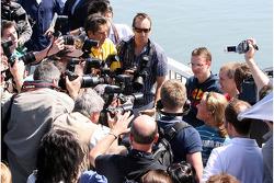 Sébastien Bourdais, Scuderia Toro Rosso, Sebastian Vettel, Scuderia Toro Rosso are photographed by the meida