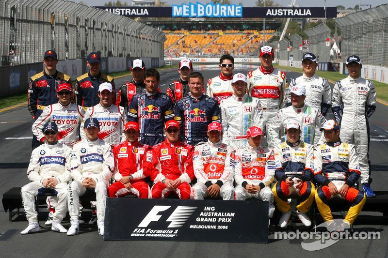 2008 Formula 1 sezonu pilotları