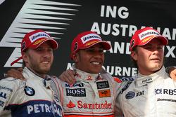 Lewis Hamilton, McLaren Mercedes, Nick Heidfeld, BMW Sauber F1 Team, Nico Rosberg, WilliamsF1 Team
