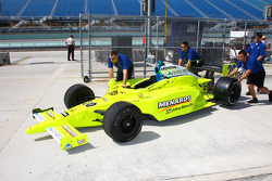 A new paint scheme on the car of Ed Carpenter