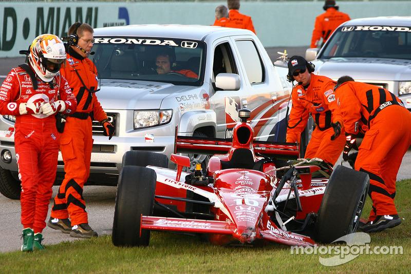 Dan Wheldon after his crash