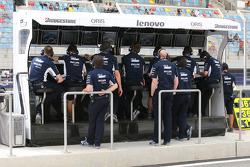 Williams F1 Team, pit gantry