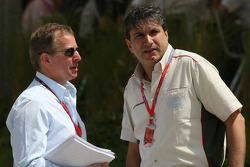 Martin Brundle ITV-F1 Commentator and Pasquale Lattuneddu, FOM, Formula One Management