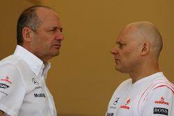 Ron Dennis, McLaren, Team Principal, Chairman and Matt Bishop, McLaren Mercedes, Head of Communications and Public Relations