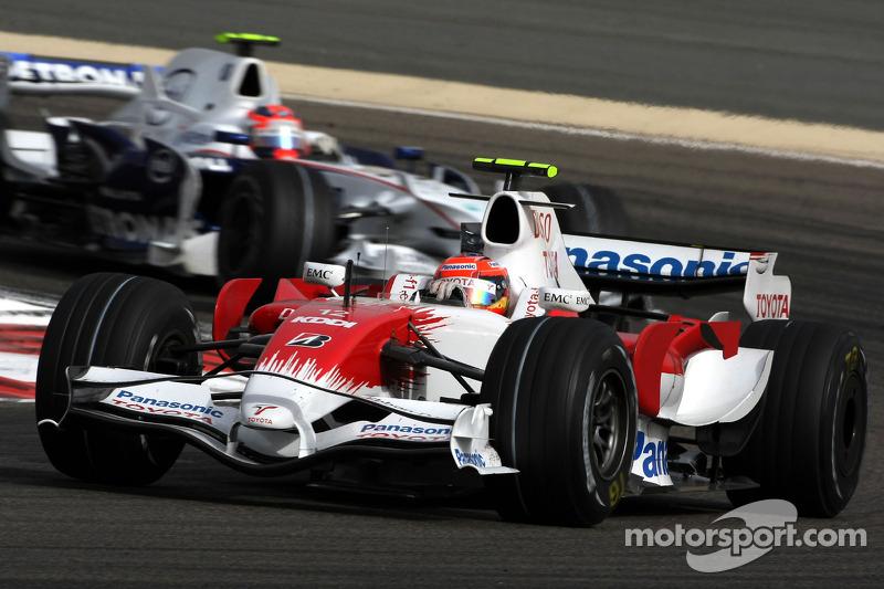 Timo Glock, Toyota F1 Team, Robert Kubica, BMW Sauber F1 Team