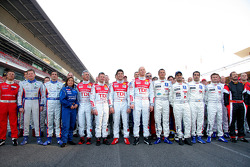 Le Mans Series drivers photoshoot