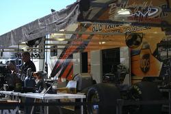 UPS sponsored Bob Vandergriff Jr's pit area