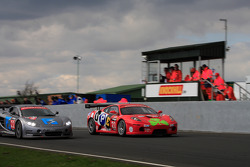 Ferrari racing Ascari on start finish straight