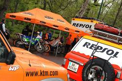 KTM Repsol Team at scrutineering