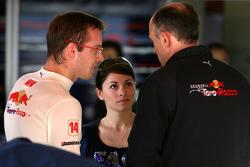Sébastien Bourdais, Scuderia Toro Rosso, Franz Tost, Scuderia Toro Rosso, Team Principal, Claire Bourdais, Wife of Sébastien Bourdais