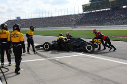 Marty Roth slides into Tomas Scheckter's pit