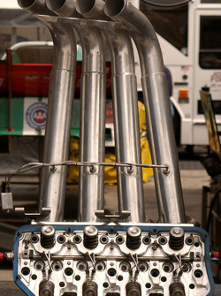 Headers from John Force's car