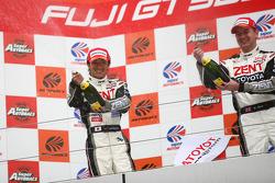 GT500 podium: class and overall winners Yuji Tachikawa and Richard Lyons