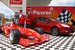 Kimi Raikkonen, Scuderia Ferrari and Felipe Massa, Scuderia Ferrari, Shell Press Conference