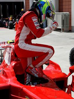 Pole winner Felipe Massa, Scuderia Ferrari