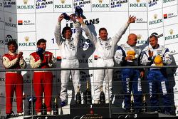 LMP2 podium: class winners Jos Verstappen and Peter Van Merksteijn, second place Jan Lammers, Didier Theys and Fredy Lienhard, third place Casper Elgaard and John Nielsen
