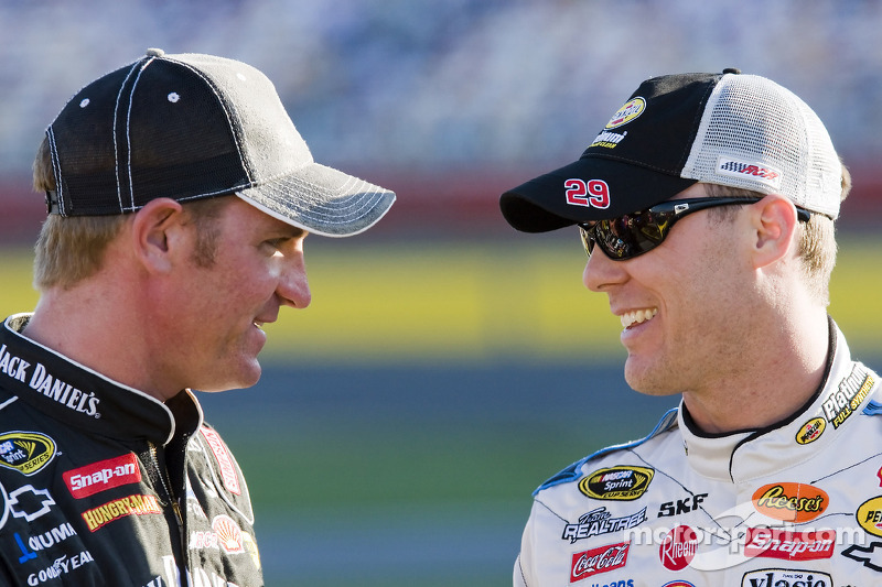 Clint Bowyer and Kevin Harvick