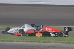 Marc Williams after he spun leaving the pits