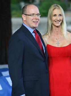 Prince Albert II of Monaco with Sonia Irvine