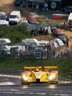 Timo Bernhard does a demo run in he Penske Racing Porsche RS Spyder