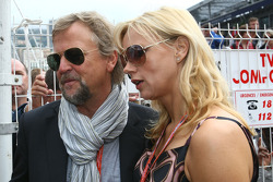 Veronica Ferres, Actrice, with husband Helmut Dietl, Director