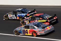 A.J. Allmendinger, Juan Pablo Montoya and Regan Smith