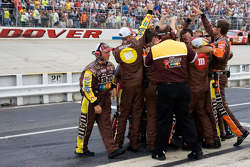 The M&M's crew celebrates win