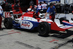 Darren Manning's car in the pits before the race