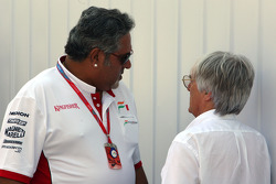 Vijay Mallya, Force India F1 Team, Owner and Kingfisher CEO and Bernie Ecclestone, President and CEO of Formula One Management