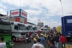 Circuit de Catalunya paddock ambiance