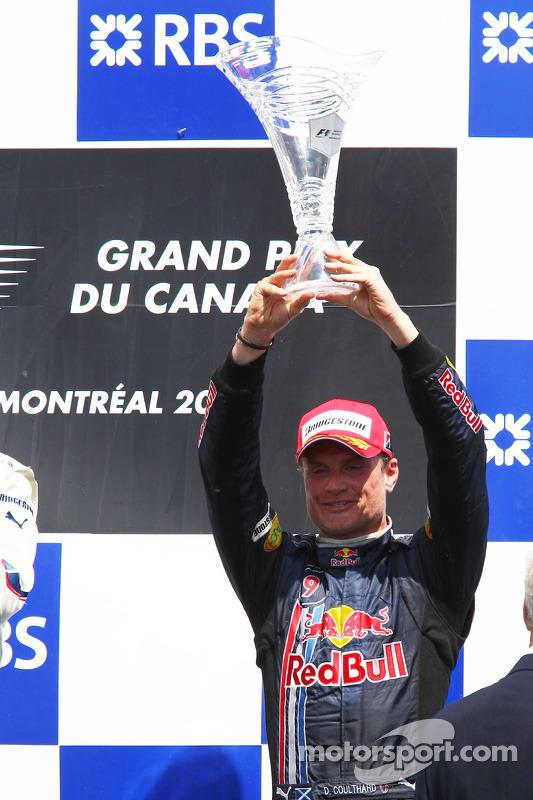 Podium: third place David Coulthard