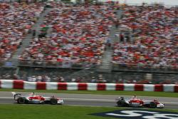 Jarno Trulli, Toyota Racing, TF108 and Timo Glock, Toyota F1 Team, TF108