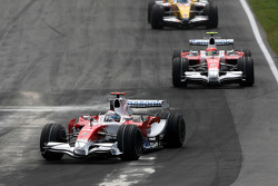 Jarno Trulli, Toyota Racing leads Timo Glock, Toyota F1 Team