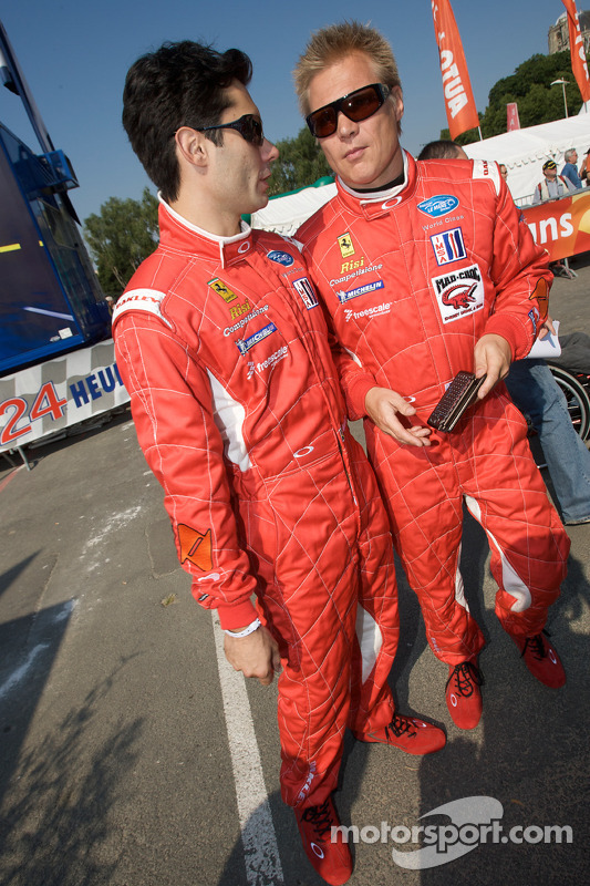 Jaime Melo et Mika Salo