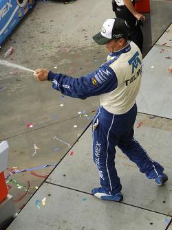 Scott Pruett still was ahead even with the champaign