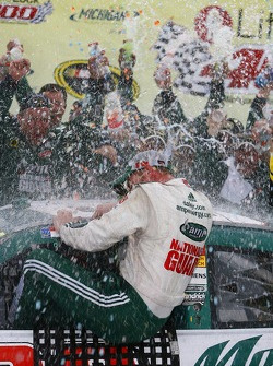 Victory lane: winner Dale Earnhardt Jr. celebrates