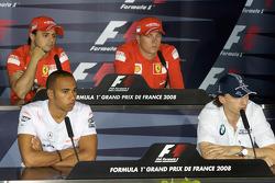 Пресс-конференция FIA: Льюис Хэмилтон, McLaren Mercedes, Роберт Кубица, BMW Sauber F1 Team, Фелипе Масса, Scuderia Ferrari и Кими Райкконен, Scuderia Ferrari