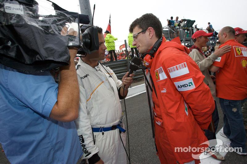 Post-race interview for Luca Baldisserri