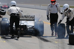 Graham Rahal leaves the pits