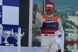 Podium: race winner Giorgio Pantano celebrates