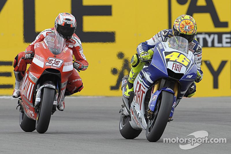 Valentino Rossi y Marco Melandri
