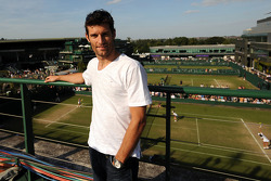 Mark Webber, Red Bull Racing spends the day at the Wimbledon Tennis Tournament