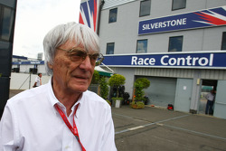 Bernie Ecclestone, President and CEO of Formula One Management on the day it has been announced that Donnington Park will become the host of the British GP in 2010