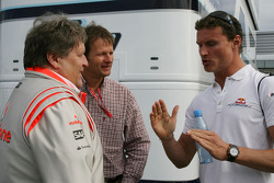 Norbert Haug, Mercedes, Motorsport chief and David Coulthard, Red Bull Racing
