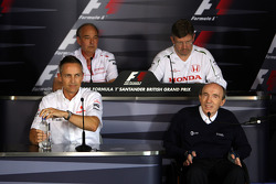 Martin Whitmarsh, McLaren, Chief Executive Officer, John Howett, Toyota Racing, President TMG, Ross Brawn Team Principal, Honda Racing F1 Team, Sir Frank Williams, WilliamsF1 Team, Team Chief, Managing Director, Team Principal