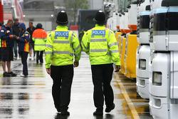 Policemen in the paddock