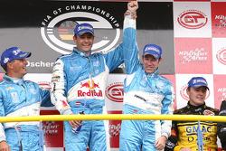 GT1 podum: class and overall winners Karl Wendlinger and Ryan Sharp