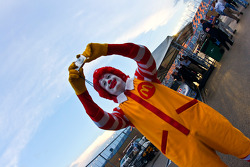 Ronald McDonald photographs the incoming storms as severe weather cancels qualifying