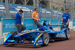 Amlin Andretti in the pitlane